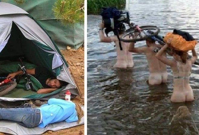 Секс в туристическом походе видео это
