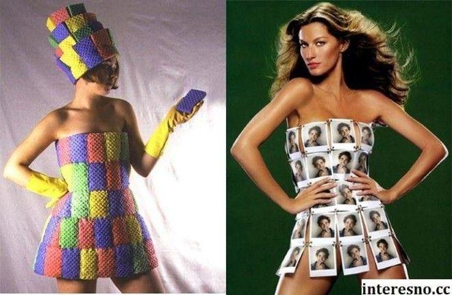 Платье своими руками из подручных средств