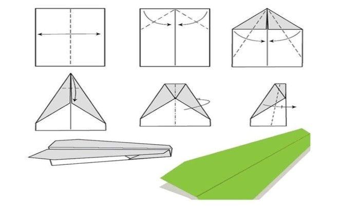 Как сделать самолётик из бумаги фото 892