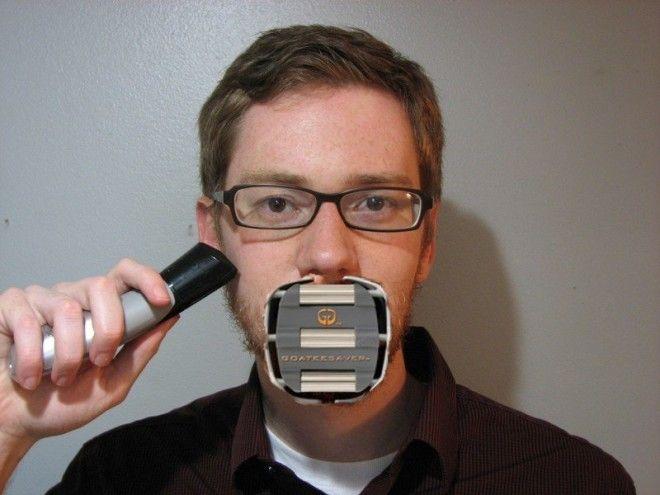 2 GoateeSaver устройство поможет обзавестись идеальной козлиной бородкой Выглядит как странный намордник изобретения кому это нужно устройства для мужчин