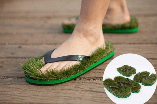 9 Травяные шлепанцы безумные вещи изобретатели изобретения ненужные вещи