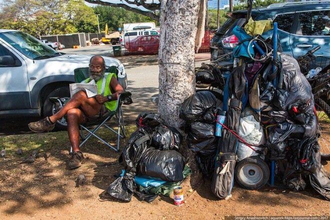 Как живется гавайским бомжам