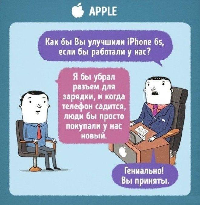 Комиксы Леонида Кана про собеседования в разных компаниях