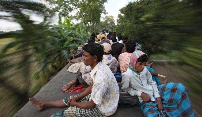 Как выглядит час пик в Бангладеше