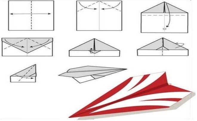 Как сделать самолётик из бумаги фото 699