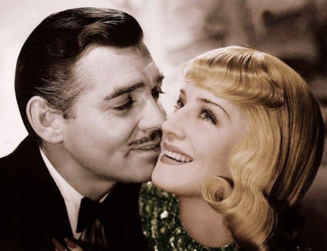 Кларк Гейбл и Норма Ширер голливуд колоризированные фото ностальгия
