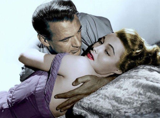 Гэри Купер и Патриция Нил голливуд колоризированные фото ностальгия