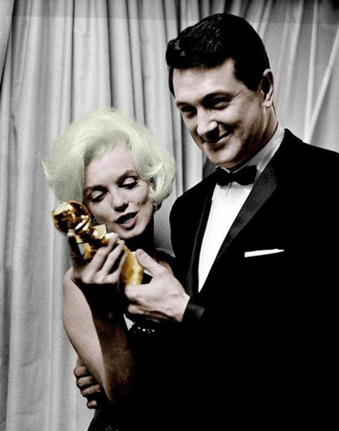 Мэрилин Монро и Рок Хадсон голливуд колоризированные фото ностальгия