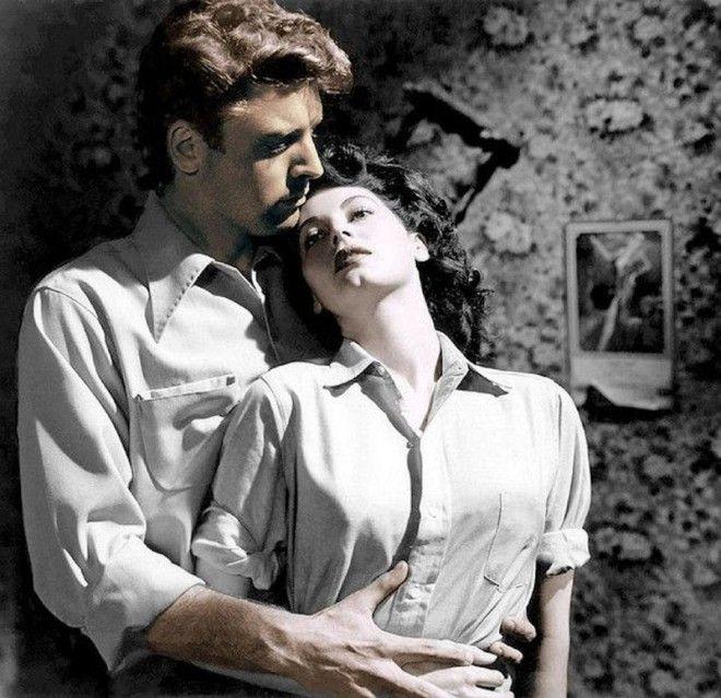 Берт Ланкастер и Эва Гарднер голливуд колоризированные фото ностальгия