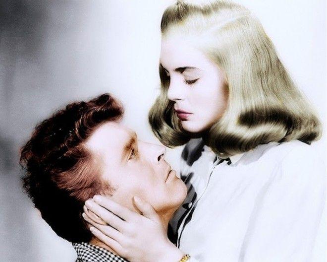 Берт Ланкастер и Лизабет Скотт голливуд колоризированные фото ностальгия