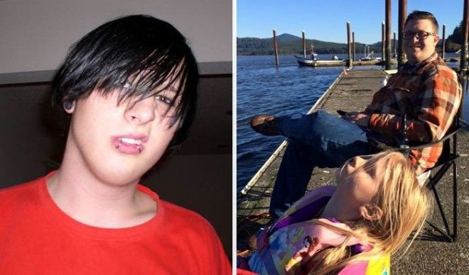 Before Year 2005 My 18 Year Old Emo Self After Year 2015 I Am A Loving Father And Husband What A Difference 10 Years Can Make