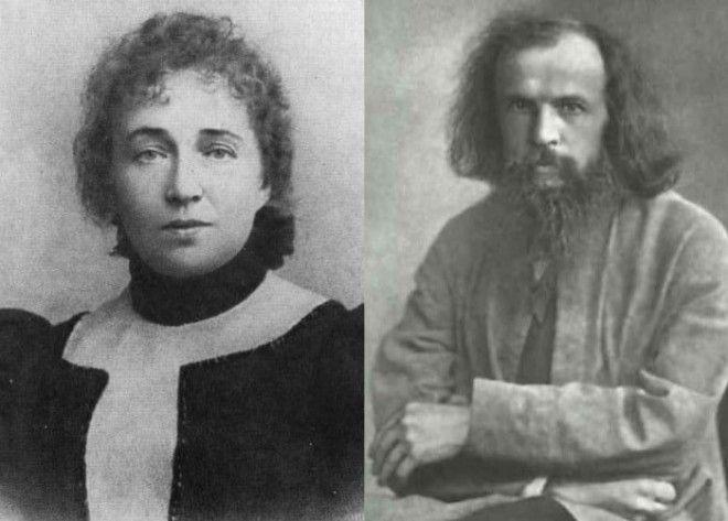 Дмитрий Менделеев и его вторая жена Анна Попова Фото ownlibru
