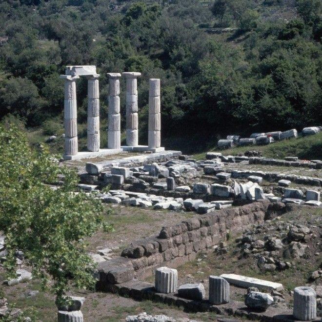 Святилище великих богов вид с севера на юг
