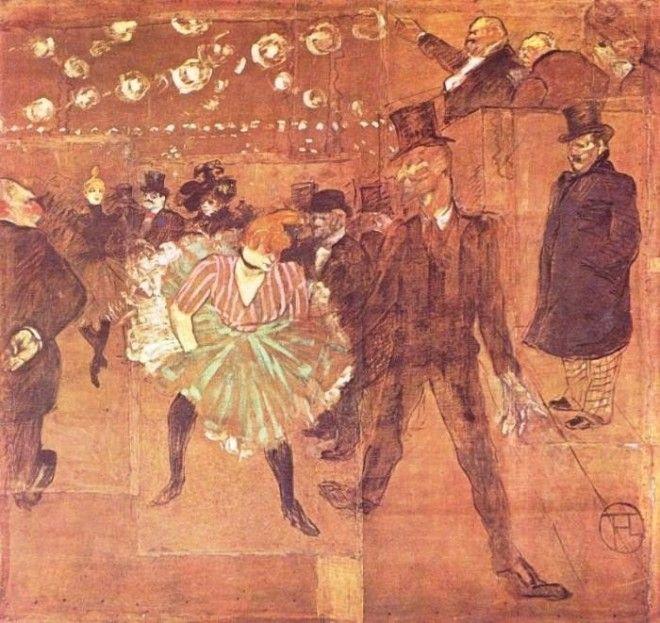 Анри де ТулузЛотрек Танцы в Мулен Руж 1895 г Фото ariaartru