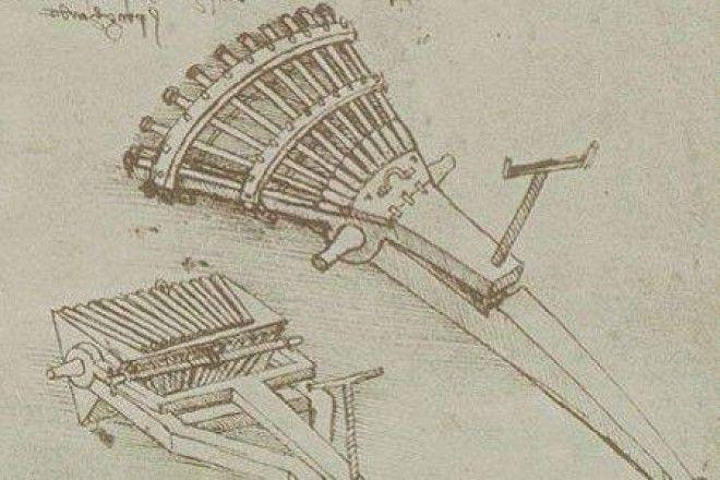 Какое оружие придумал Леонардо да Винчи