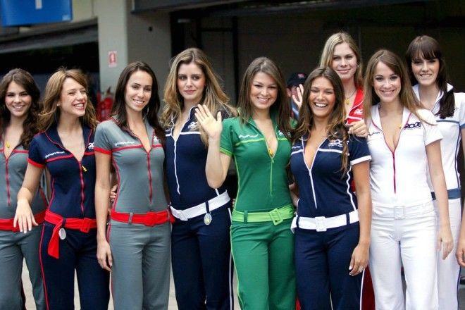 Полуобнаженные красавицы Формулы 1 Фото 44