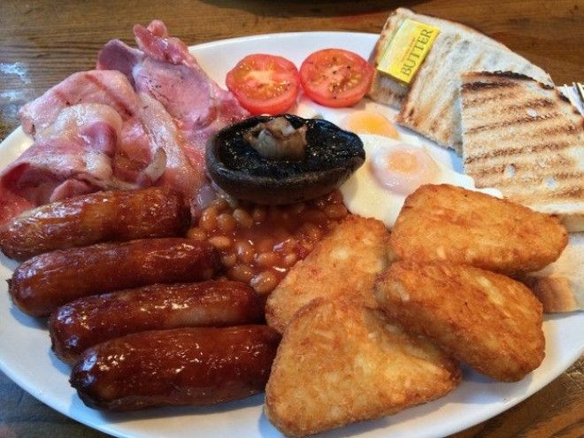 Full English breakfast UK