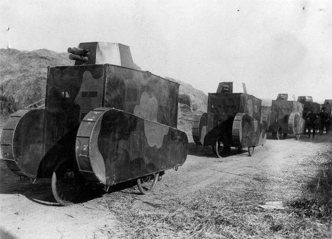 1928г Картонные немецкие танкимуляжи на учениях