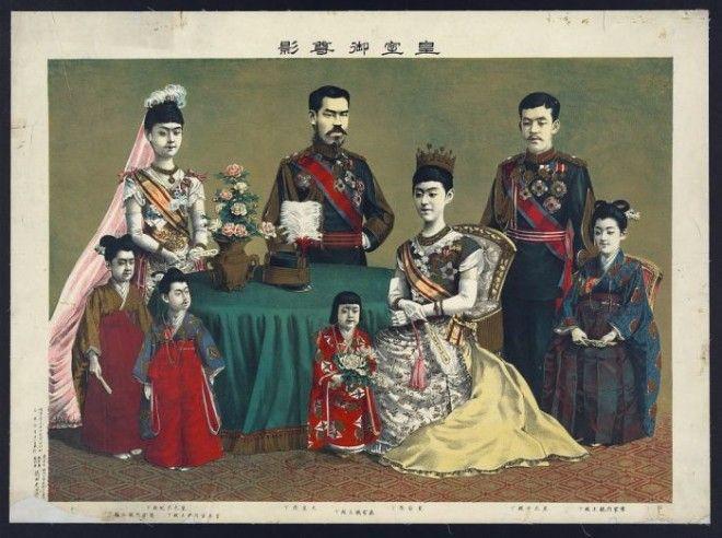 Семья императора Мэйдзи Фото memorylocgov