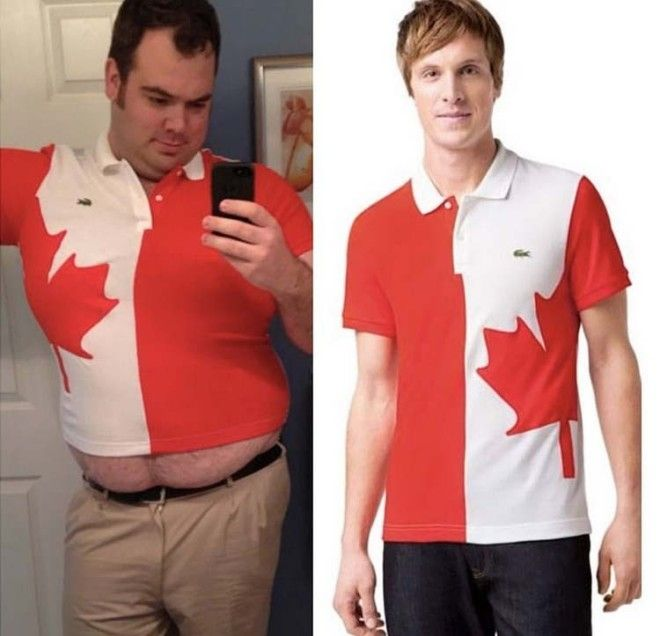 Заказывал огромную футболку с канадским флагом а получил топик заказ интернет ожидание и реальность прикол