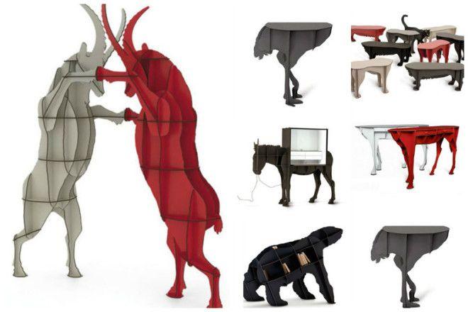 Столы столики комоды и полочки чудо же не правда ли дизайн дом животные идеи