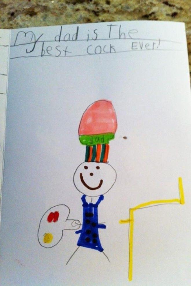 15 Открытка с днем рождения Мой отец лучший повар в мире дети веселят детские записки открытки фото