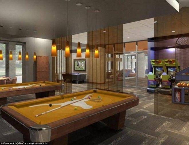 Роскошные студенческие общежития США с бильярдом джакузи и кинотеатрами