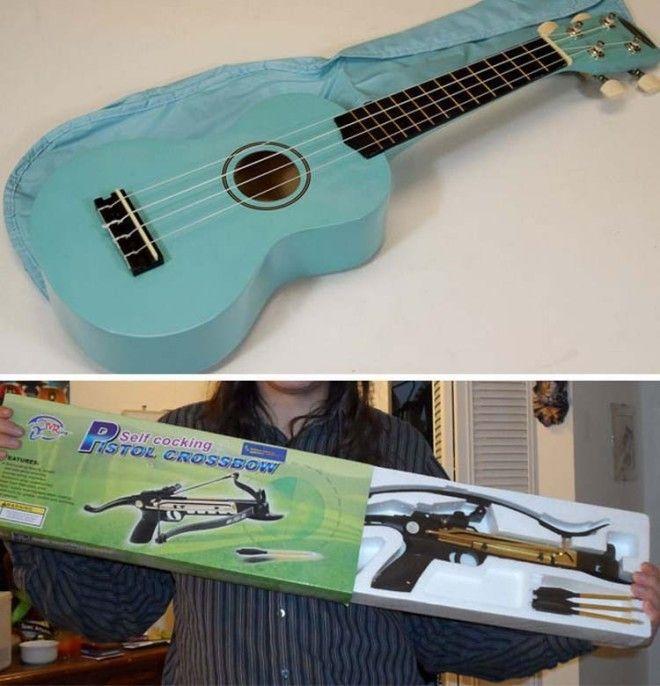 Вместо гитары пришел арбалет заказ интернет ожидание и реальность прикол