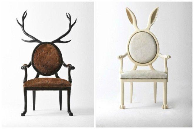 Стулья и кресла дизайн дом животные идеи