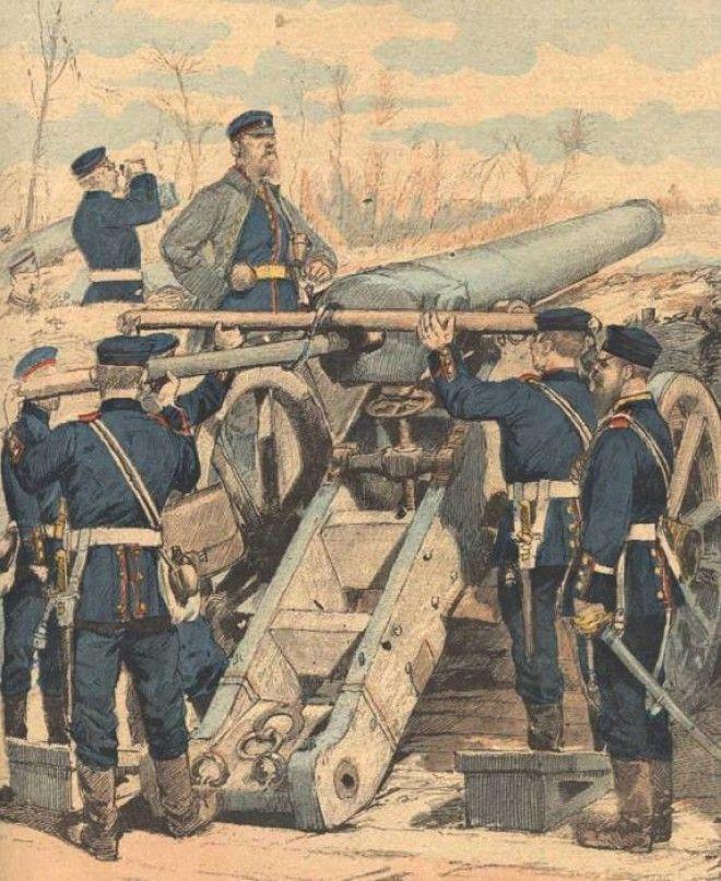 Немецкая артиллерия обстреливает французские позиции Фото miniaturasmilitaresalfonscanovasblogspotcom