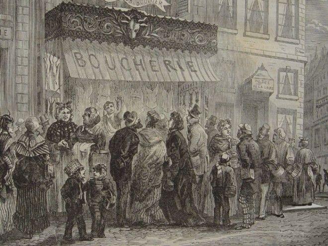 Парижские домохозяйки в очереди к мяснику Фото frwikipediaorg