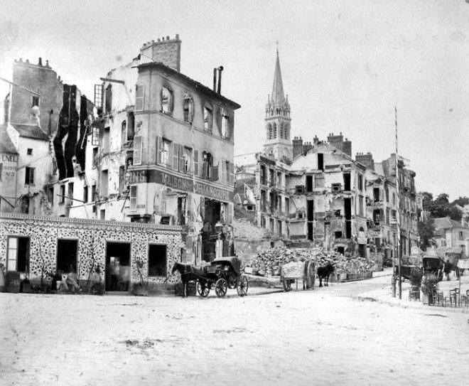 Пригород Парижа СенКлу после бомбардировки Октябрь 1870 года Фото frwikipediaorg