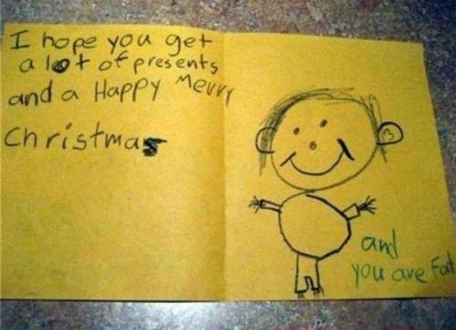 9 Надеюсь у тебя будет много подарков и с Рождеством Кстати ты толстый дети веселят детские записки открытки фото