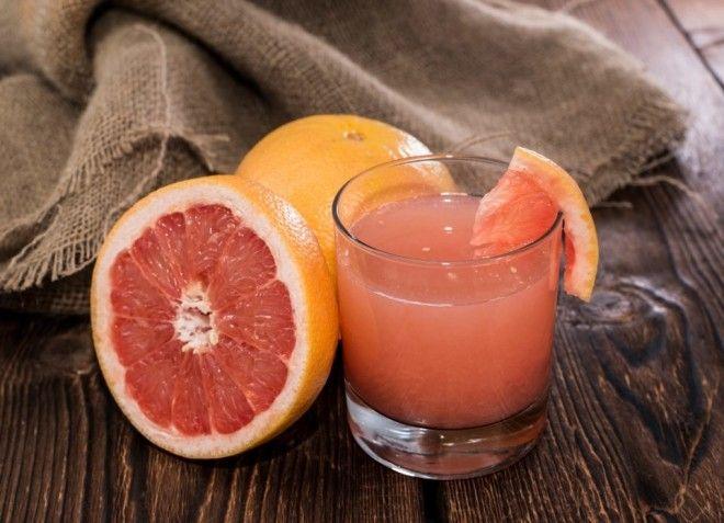 Свежевыжатый сок из грейпфрута