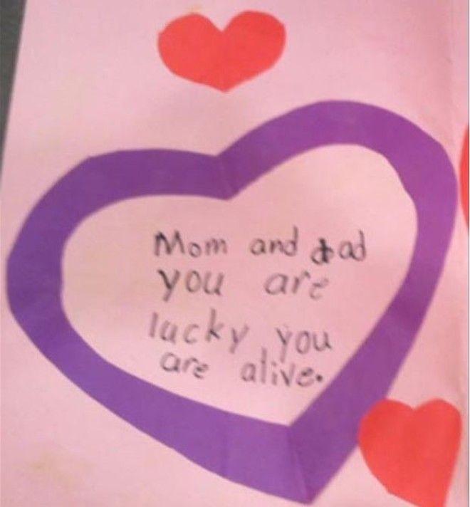 10 Открытка с днем всех влюбленных мама и папа вы счастливчики вы живы дети веселят детские записки открытки фото