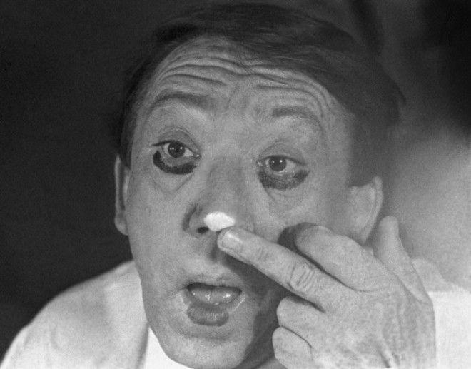Юрий Никулин перед выходом на арену 10 октября 1977 года