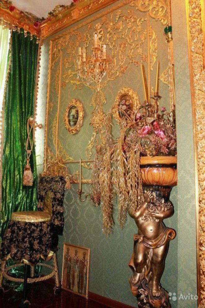 квартира отделанная золотом