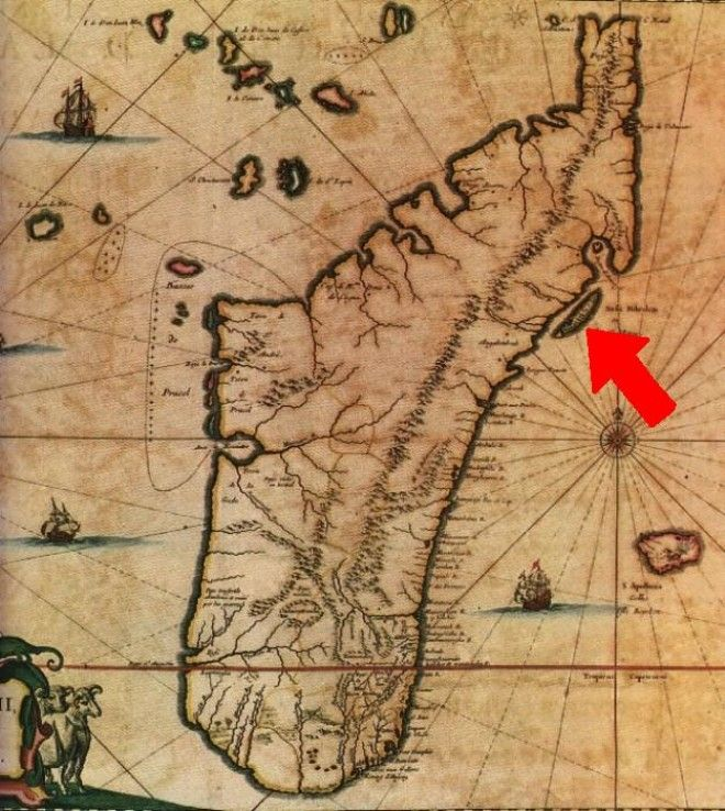 Остров СентМари на карте Мадагаскара Фото spbguru