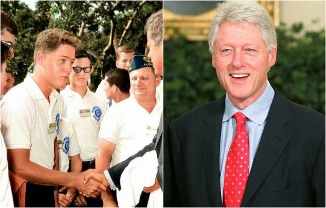 Молодой Билл Клинтон пожимает руку Джону Кеннеди который находился на посту президента с 1961 по 1963 года