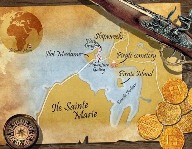Пиратская карта острова СентМари Фото dailymailcouk