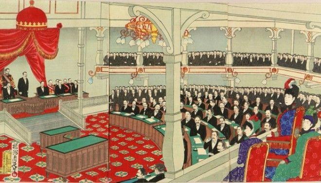 Заседание японского парламента в 1890 году Фото ruwikipediaorg