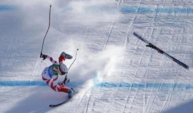 11 Страшные падения лыжников знаменитости спорт спортсмены страшно фото