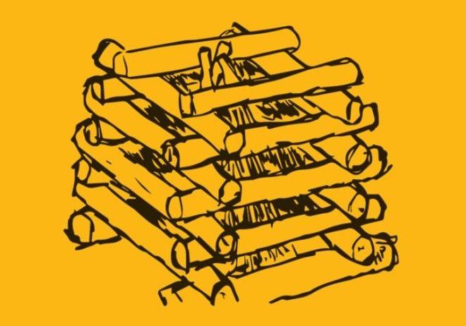 Костер колодцем Уложите два полена на земле параллельно друг другу Следующая пара бревен укладывается сверху перпендикулярно первым двум После того как вы уложите еще несколько слоев вы увидите что конструкция формой и правда напоминает колодезный сруб Когда достроите колодец до середины разместите в его сердцевине трут а на нее положите растопку Добавьте еще 12 слоя и подожгите трут Обратите внимание что если укладывать стены колодца слишком близко друг к другу недостаток кислорода будет душить пламя Не забудьте кормить огонь подбрасывая время от времени растопку пока костер хорошо не разгорится