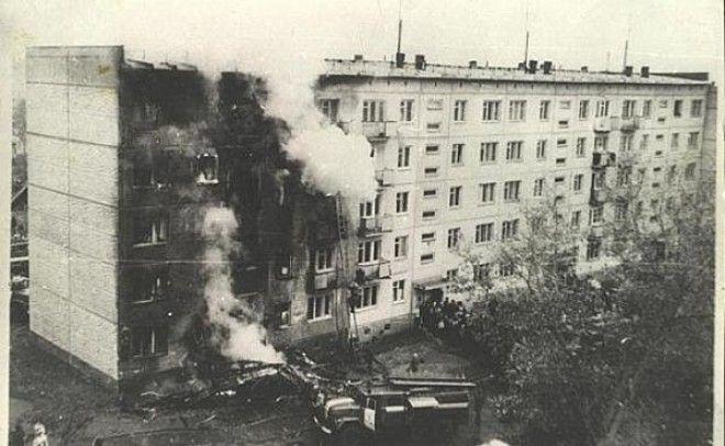 Жилой дом пострадавший от самолёта Ан2