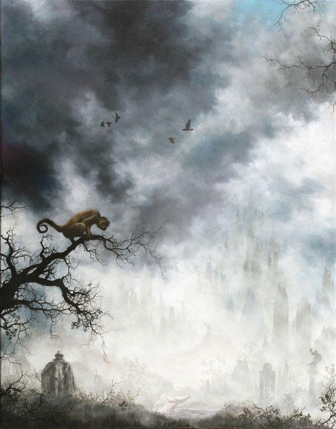 туманные пейзажи картины постапокалипсис Брайан Машбёрн Brian Mashburn