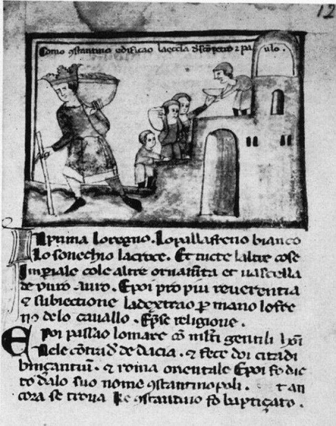 Константинов дар поддельное завещание императора Константина Папе Сильвестру I Фото cs8pikaburu