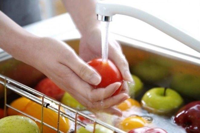 Мытьё фруктов и овощей