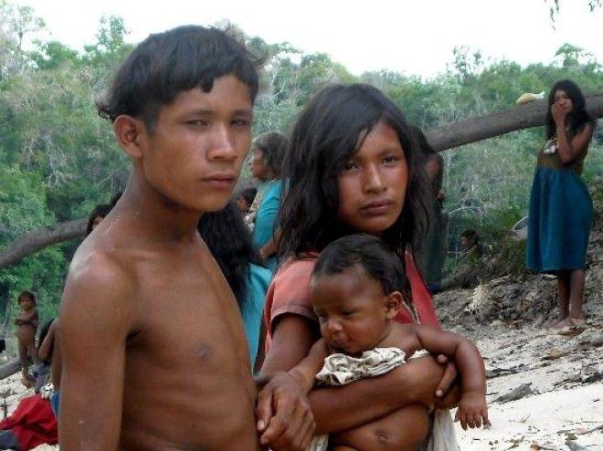 Жители племени пираха