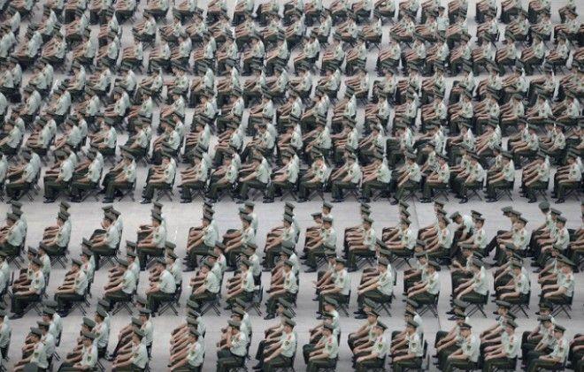 Более 1000 военизированных полицейских принимают участие в учениях в Нанкин провинция Цзянсу