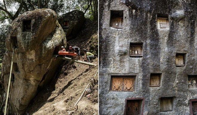 Умерших хоронят в пещерах